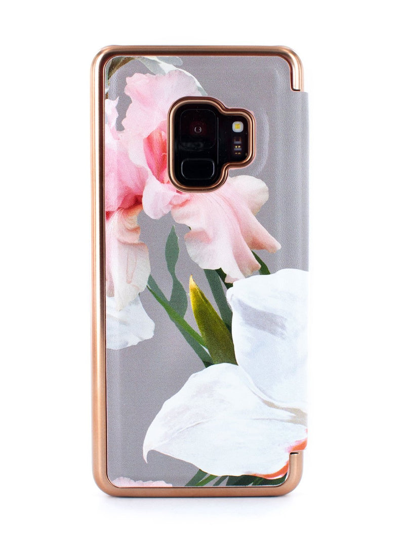Back image of the Ted Baker Samsung Galaxy S9 phone case in Mid Grey
