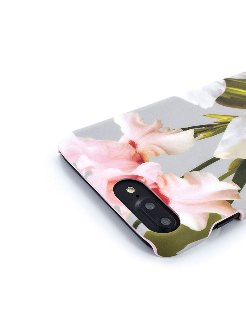 Detail image of the Ted Baker Apple iPhone 8 Plus / 7 Plus phone case in Mid Grey