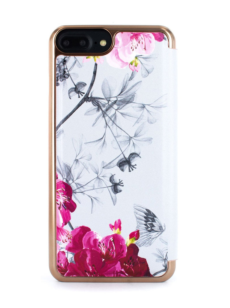 Back image of the Ted Baker Apple iPhone 8 Plus / 7 Plus phone case in Babylon Nickel White
