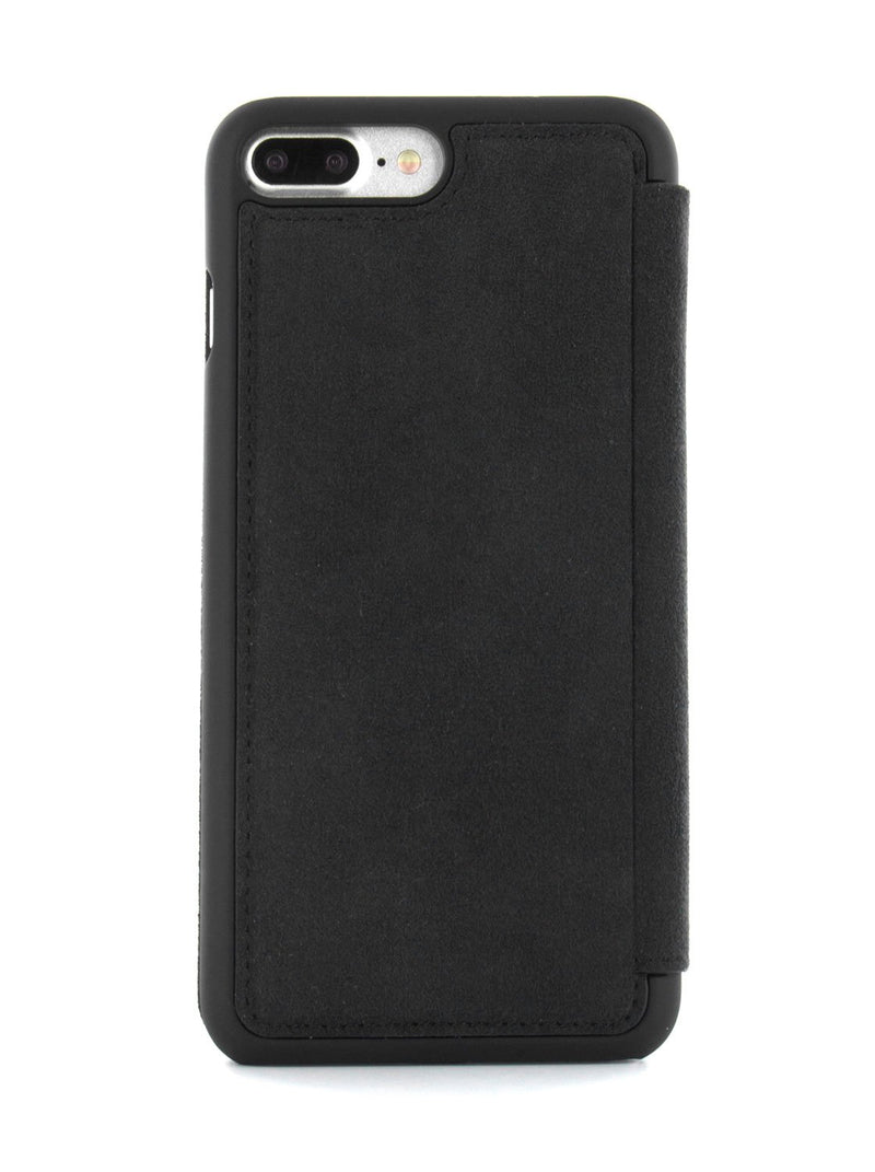 Back image of the Greenwich Apple iPhone 8 Plus / 7 Plus phone case in Alcantara