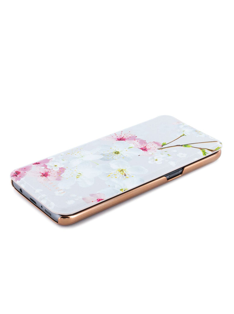 Face up image of the Ted Baker Samsung Galaxy S8 phone case in White