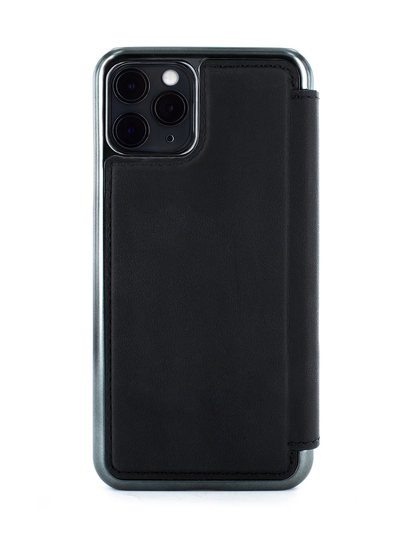 BLAKE Classic Leather Case for iPhone 11 Pro - BELUGA (BLACK)/GUNMETAL