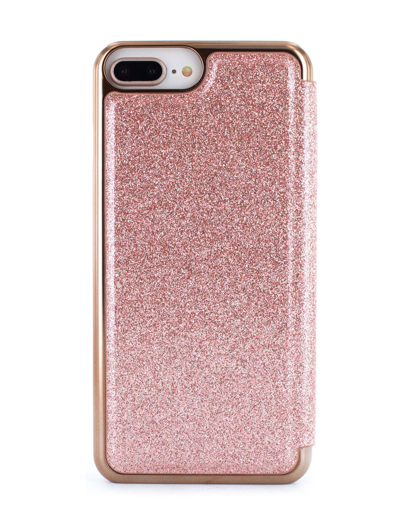 Back image of the Ted Baker Apple iPhone 8 Plus / 7 Plus phone case in Rose Gold