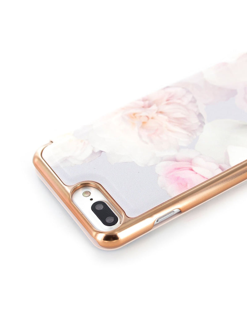 Face down image of the Ted Baker Apple iPhone 8 Plus / 7 Plus phone case in Pale Grey
