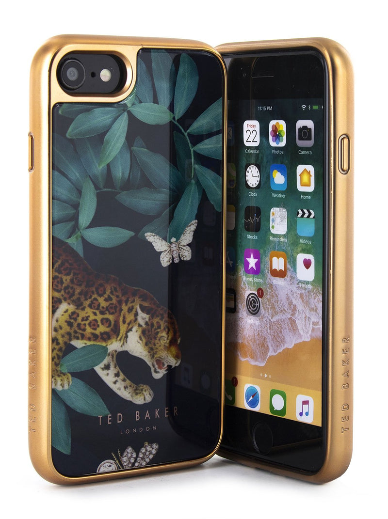 Front and back image of the Ted Baker Apple iPhone 8 / 7 / 6S phone case in Houdini Navy