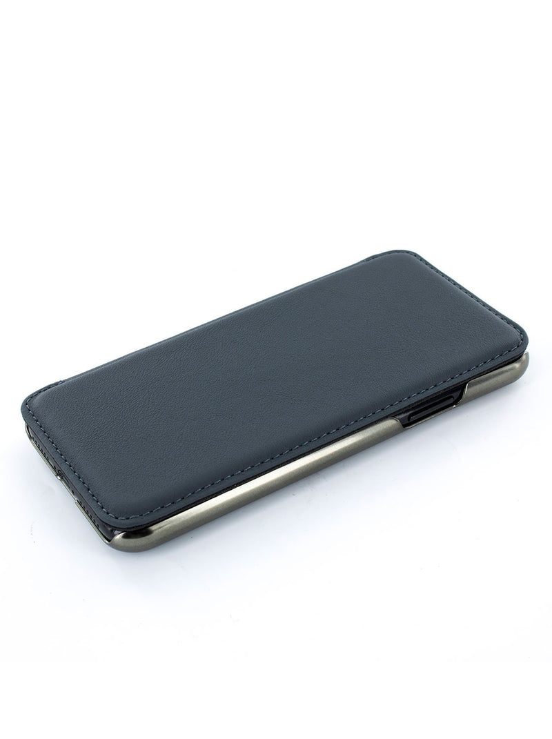Face up image of the Greenwich Apple iPhone XS / X phone case in Seal Grey