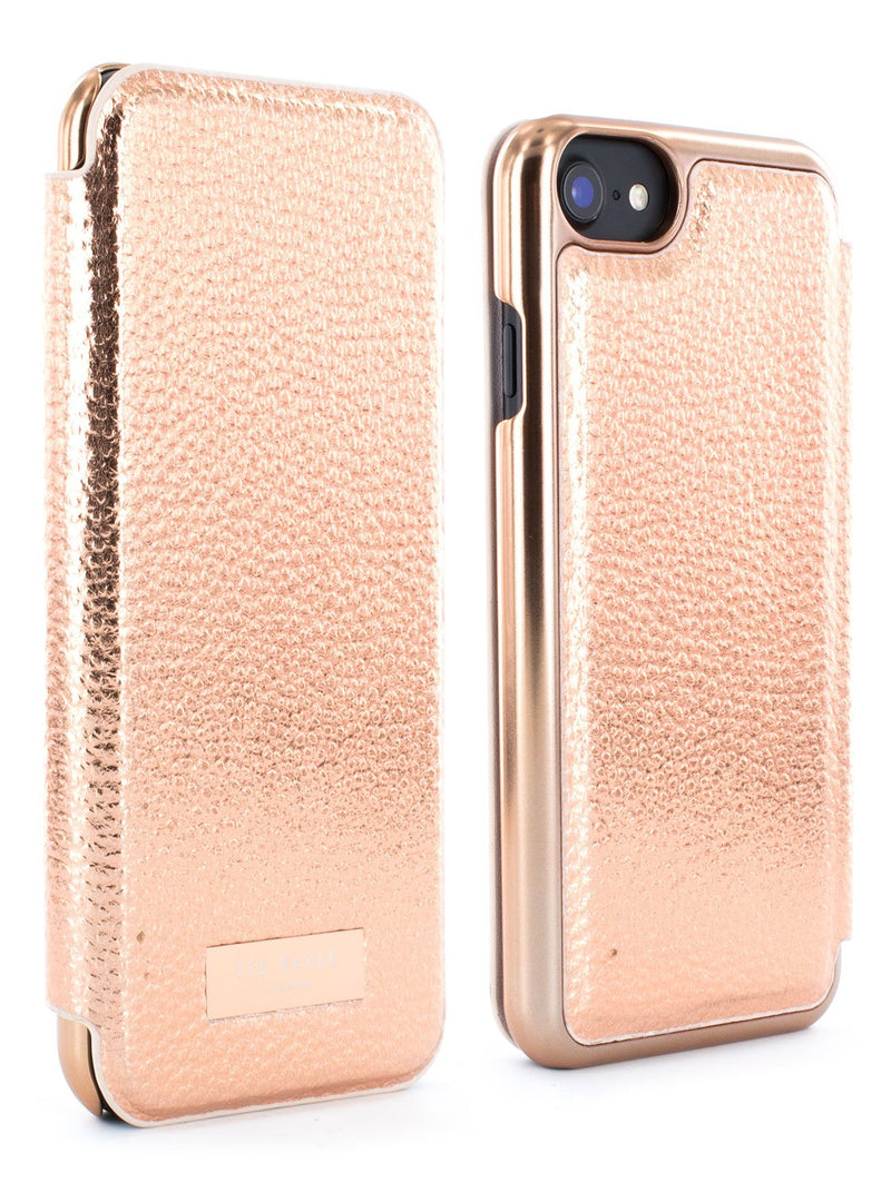 Front and back image of the Ted Baker Apple iPhone 8 / 7 / 6S phone case in Rose Gold