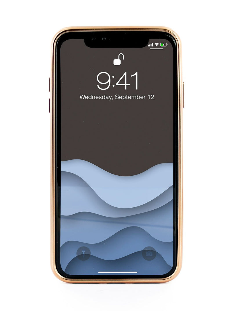 Front image of the Ted Baker Apple iPhone XS / X phone case in Pink