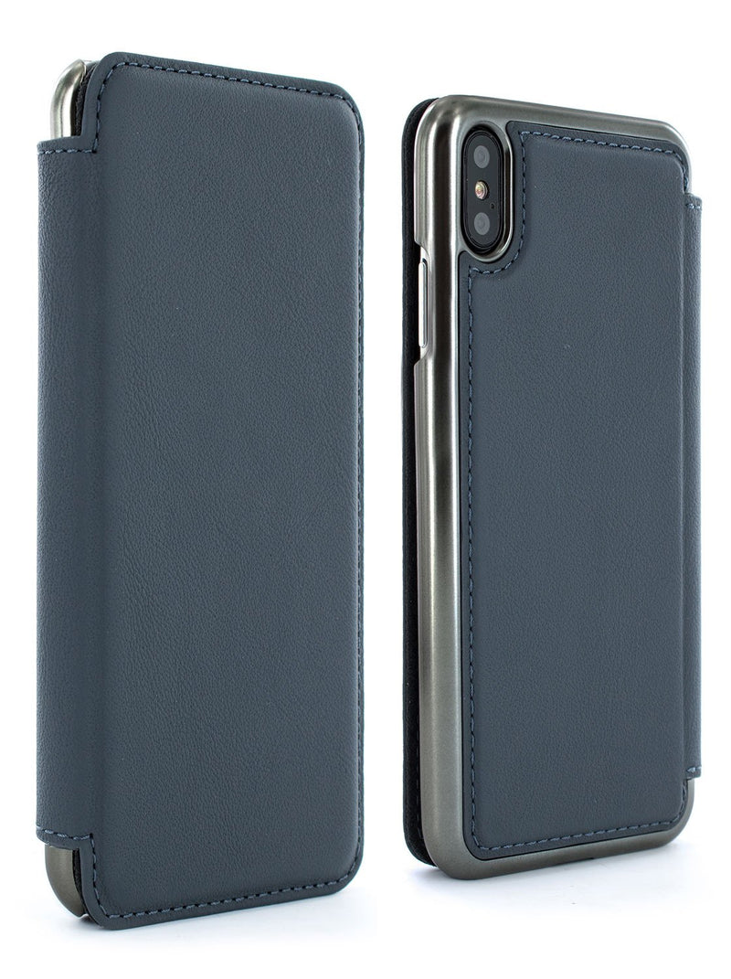 Front and back image of the Greenwich Apple iPhone XS Max phone case in Seal Grey