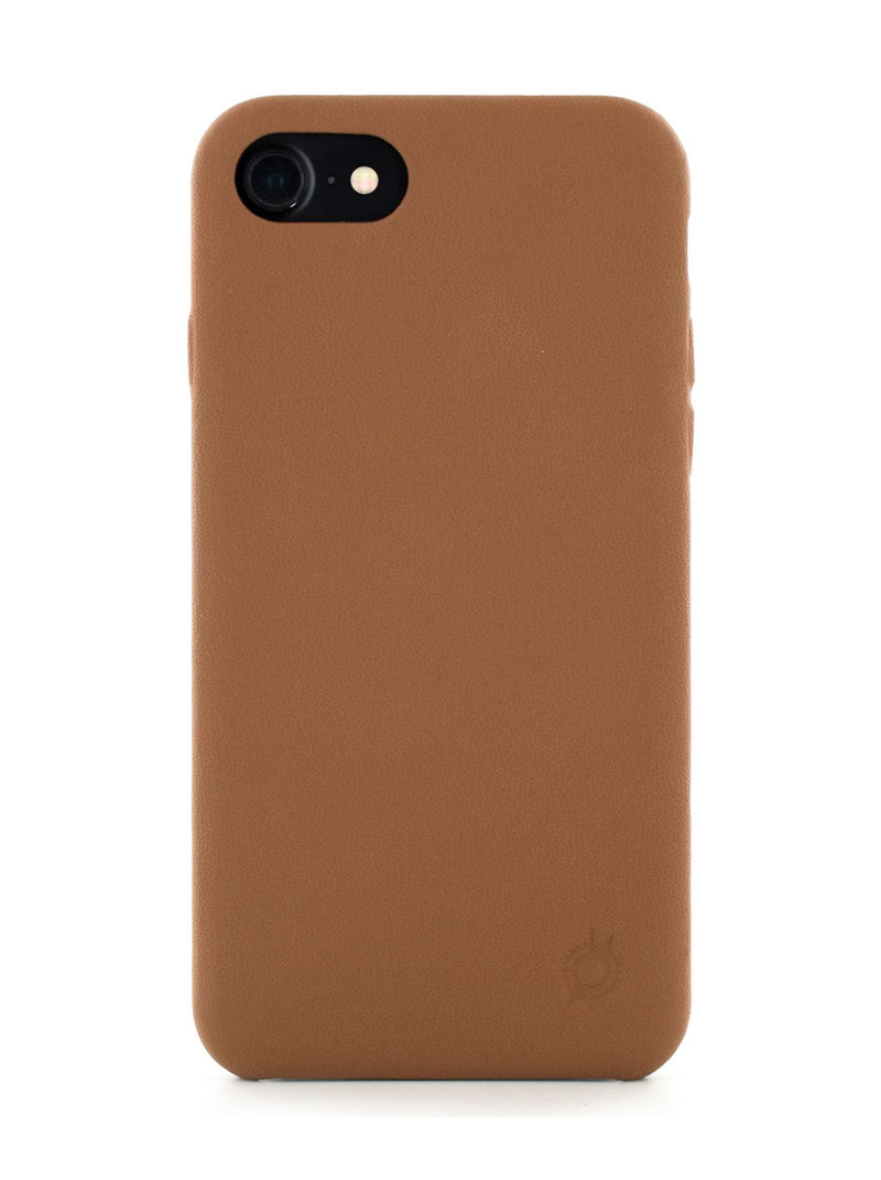Hero image of the Greenwich Apple iPhone 8 / 7 / 6S phone case in Saddle Brown