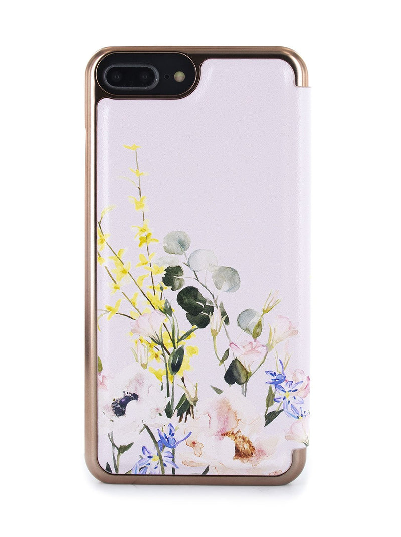 Back image of the Ted Baker Apple iPhone 8 Plus / 7 Plus phone case in Pink