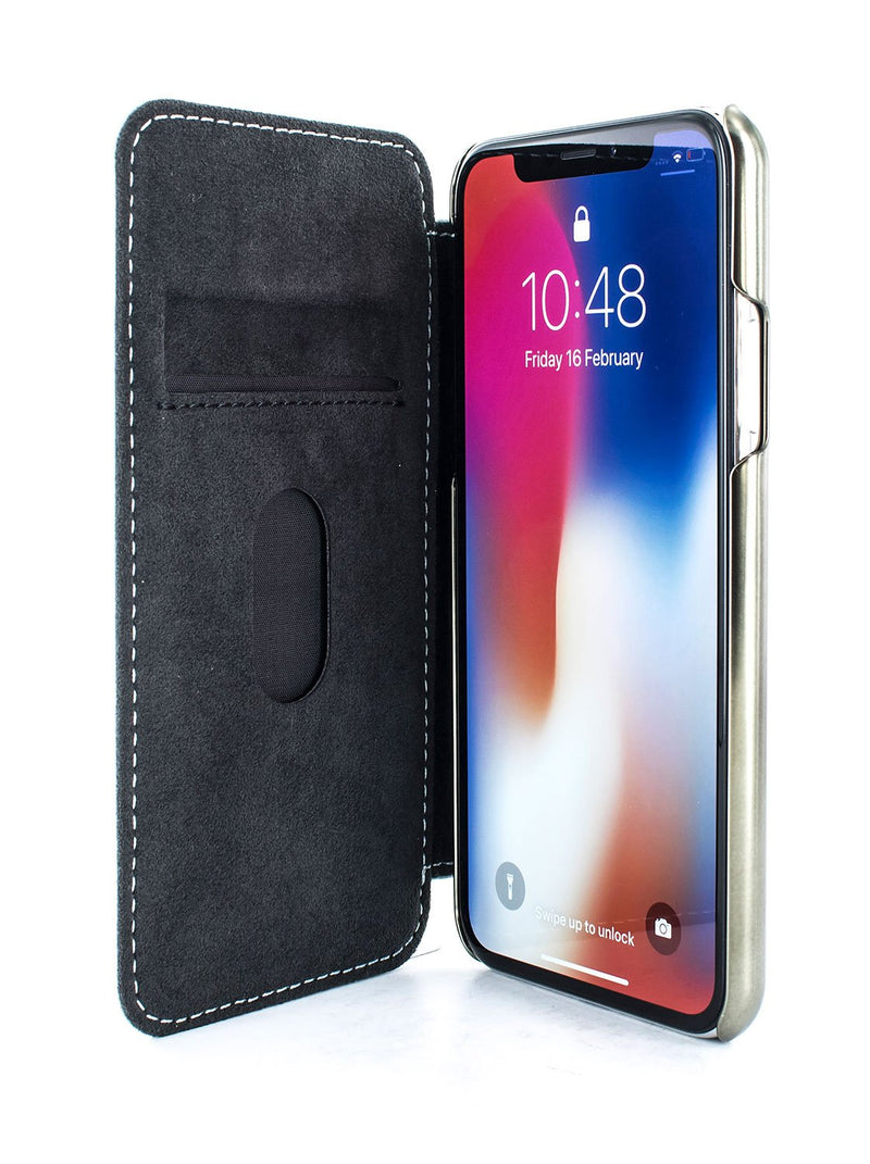 Inside image of the Greenwich Apple iPhone XS Max phone case in Pale Gravel Grey