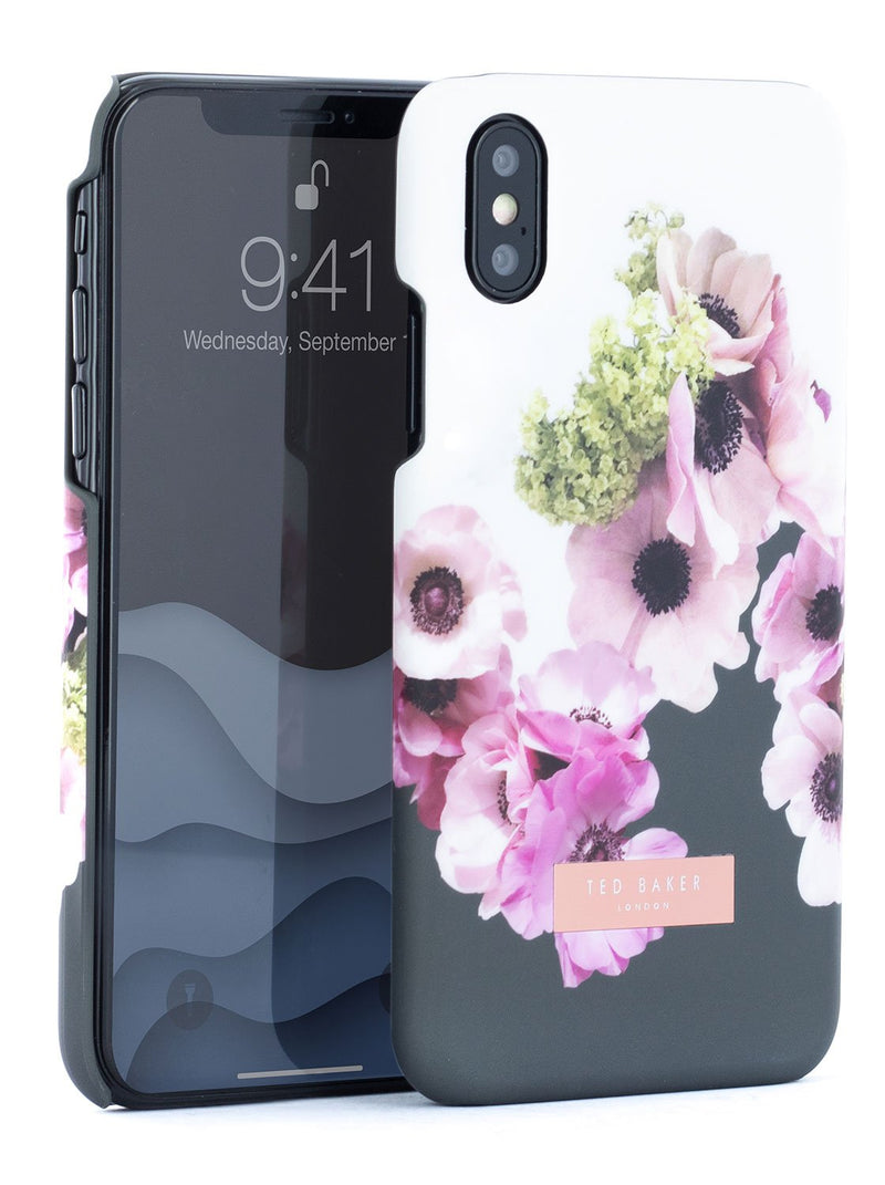 Front and back image of the Ted Baker Apple iPhone XS / X phone case in White
