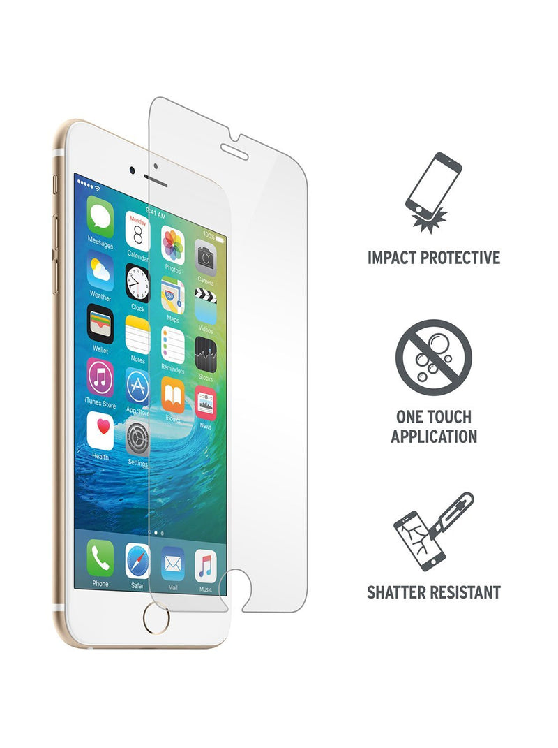 Hero image of the Proporta Apple iPhone 8 / 7 / 6S screen protector in Clear