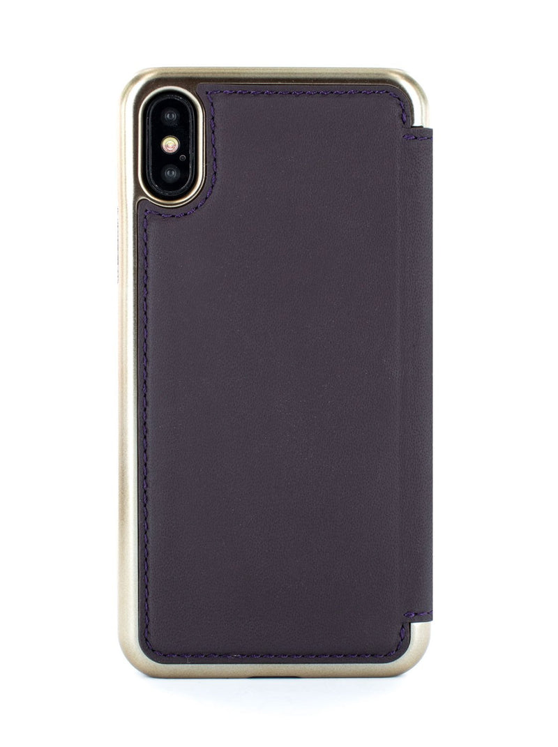 Back image of the Greenwich Apple iPhone XS / X phone case in Damson Purple