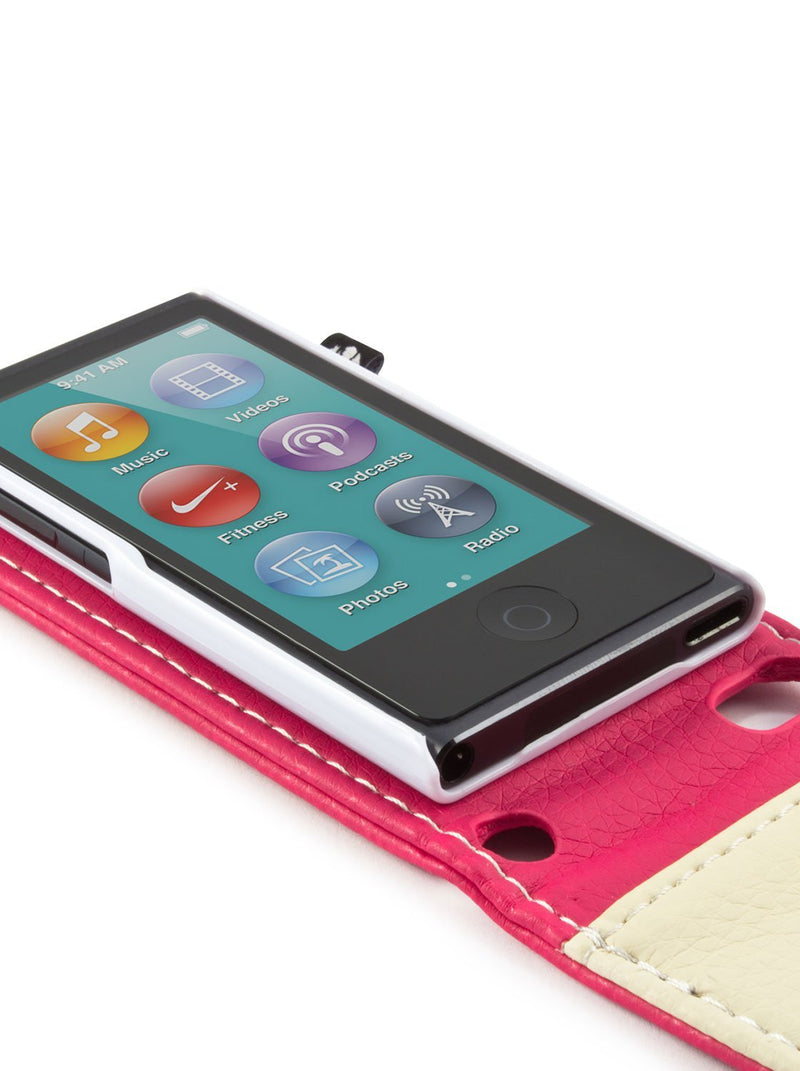 Detail image of the Proporta Apple iPod Nano 7G phone case in Pink