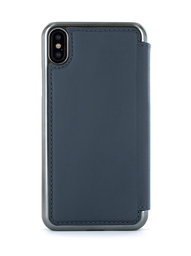 Back image of the Greenwich Apple iPhone XS Max phone case in Seal Grey