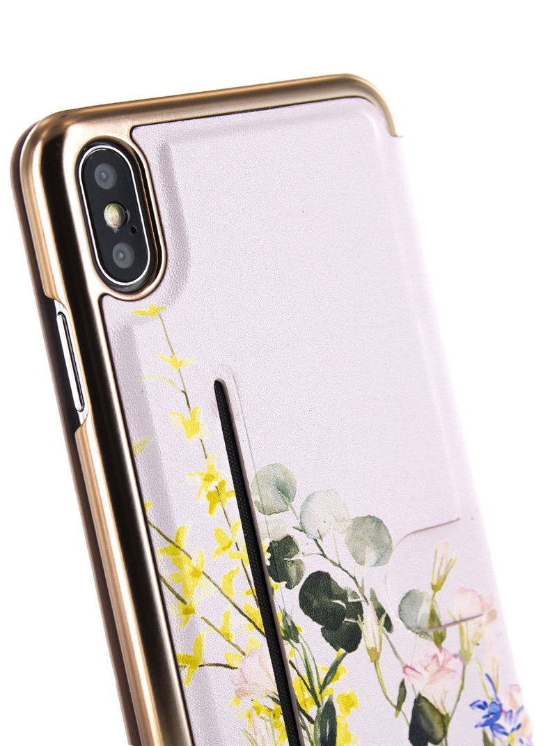Back image of the Ted Baker Apple iPhone XS Max phone case in Pink