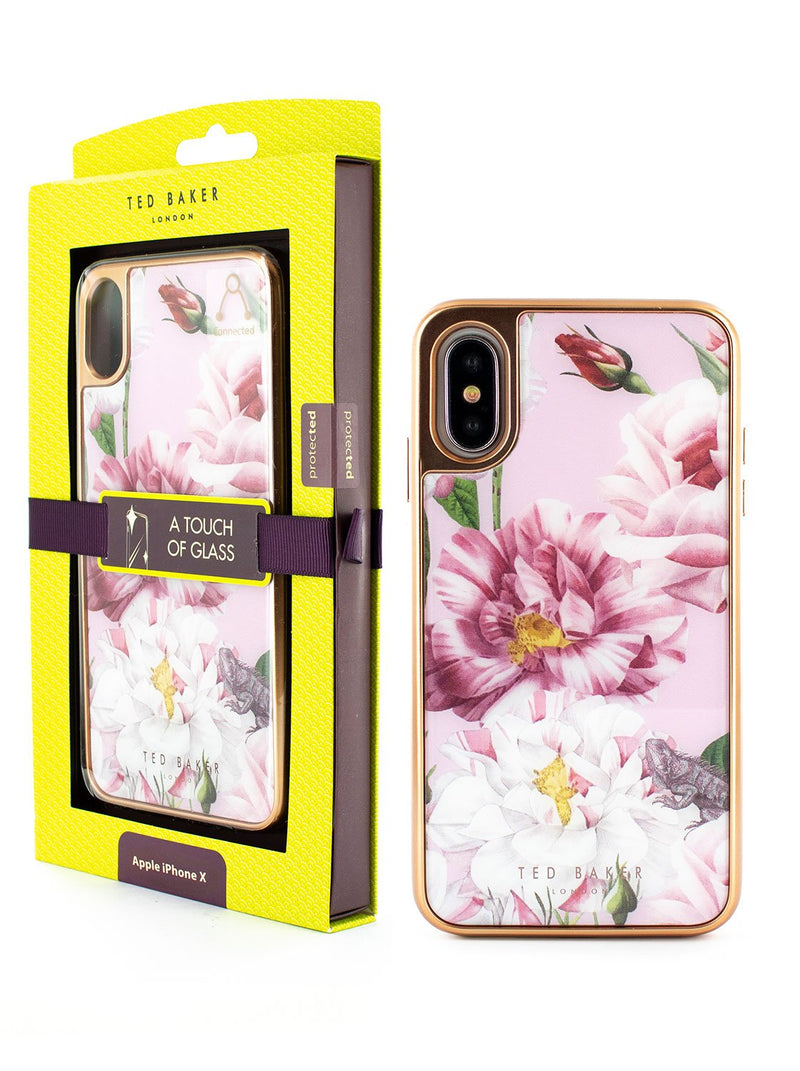 Packaging image of the Ted Baker Apple iPhone XS / X phone case in Pink