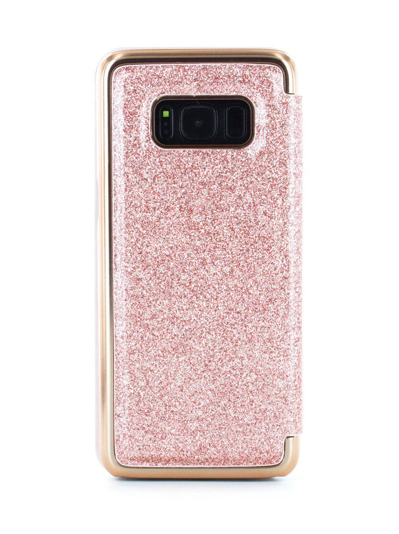 Back image of the Ted Baker Samsung Galaxy S8 phone case in Rose Gold