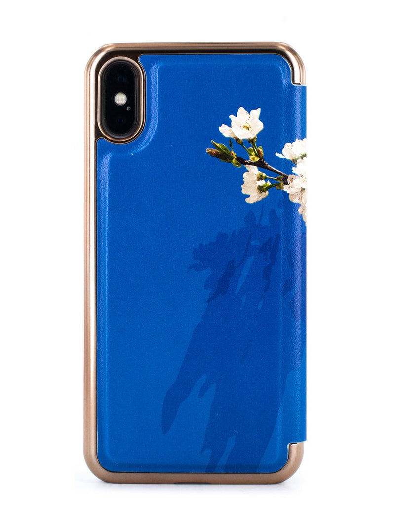 Back image of the Ted Baker Apple iPhone XS / X phone case in Blue