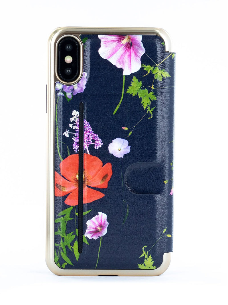 Back image of the Ted Baker Apple iPhone XS / X phone case in Dark Blue