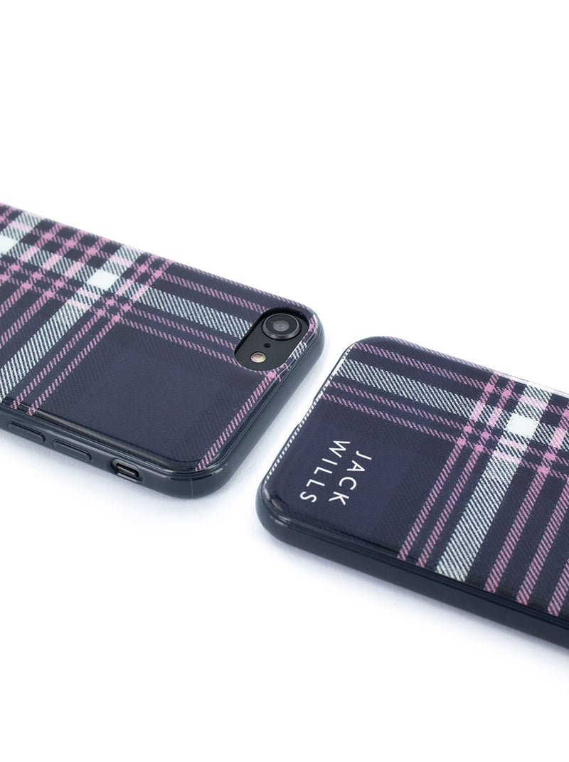 Jack Wills BRAMPTON Hard Shell for iPhone SE (2020) / 8 / 7 / 6 - Pink/Navy Check
