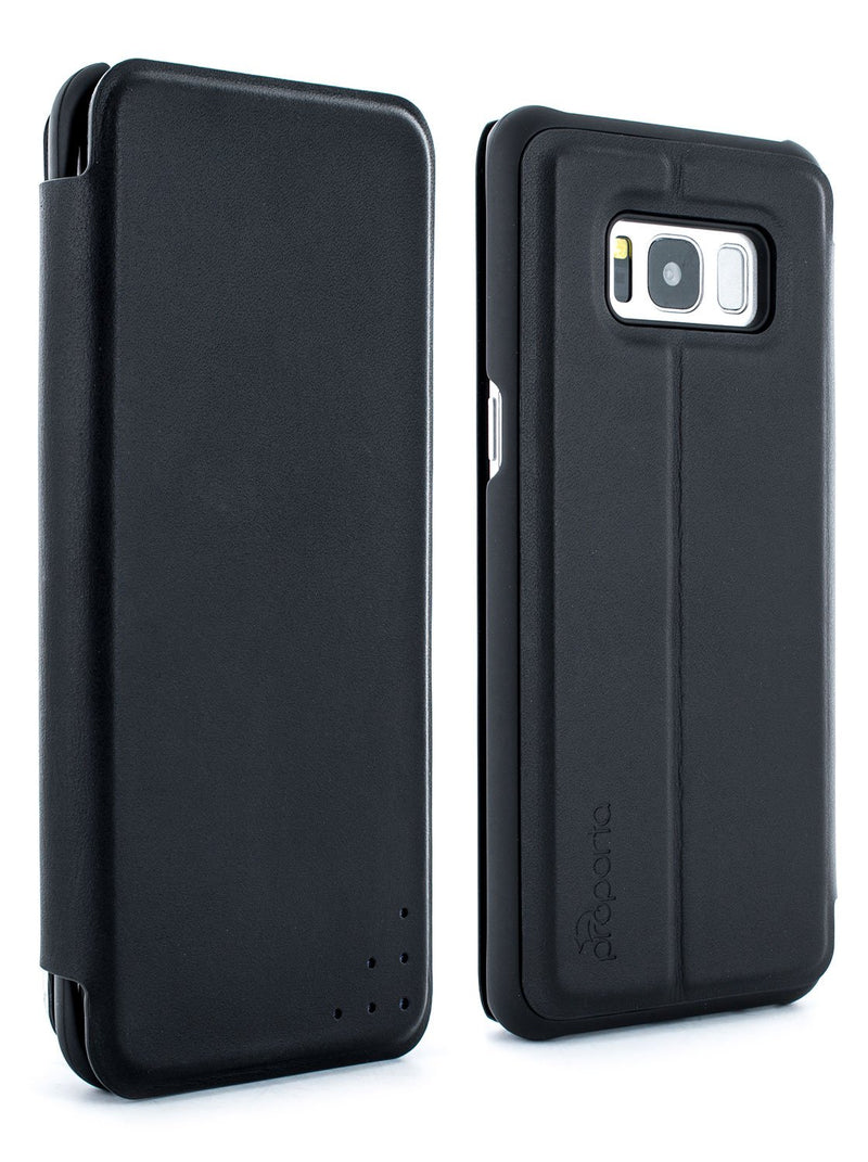 Front and back image of the Proporta Samsung Galaxy S8 phone case in Black