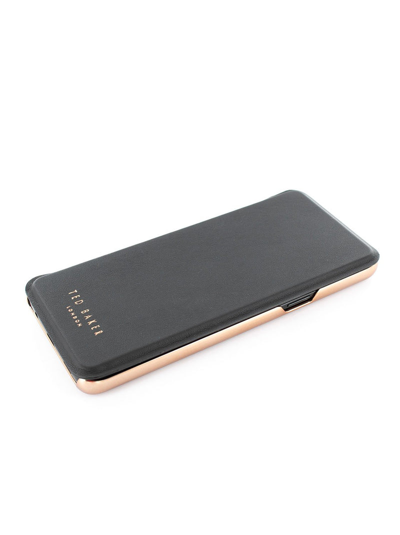 Face up image of the Ted Baker Samsung Galaxy S9 phone case in Black