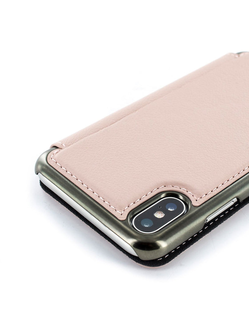 Detail image of the Greenwich Apple iPhone XS / X phone case in Blossom Pink