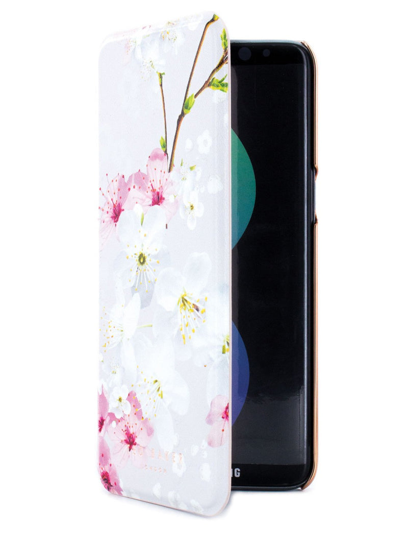 Flip cover image of the Ted Baker Samsung Galaxy S8 phone case in White
