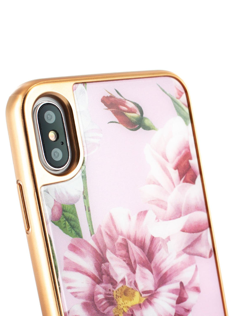 Detail image of the Ted Baker Apple iPhone XS Max phone case in Pink