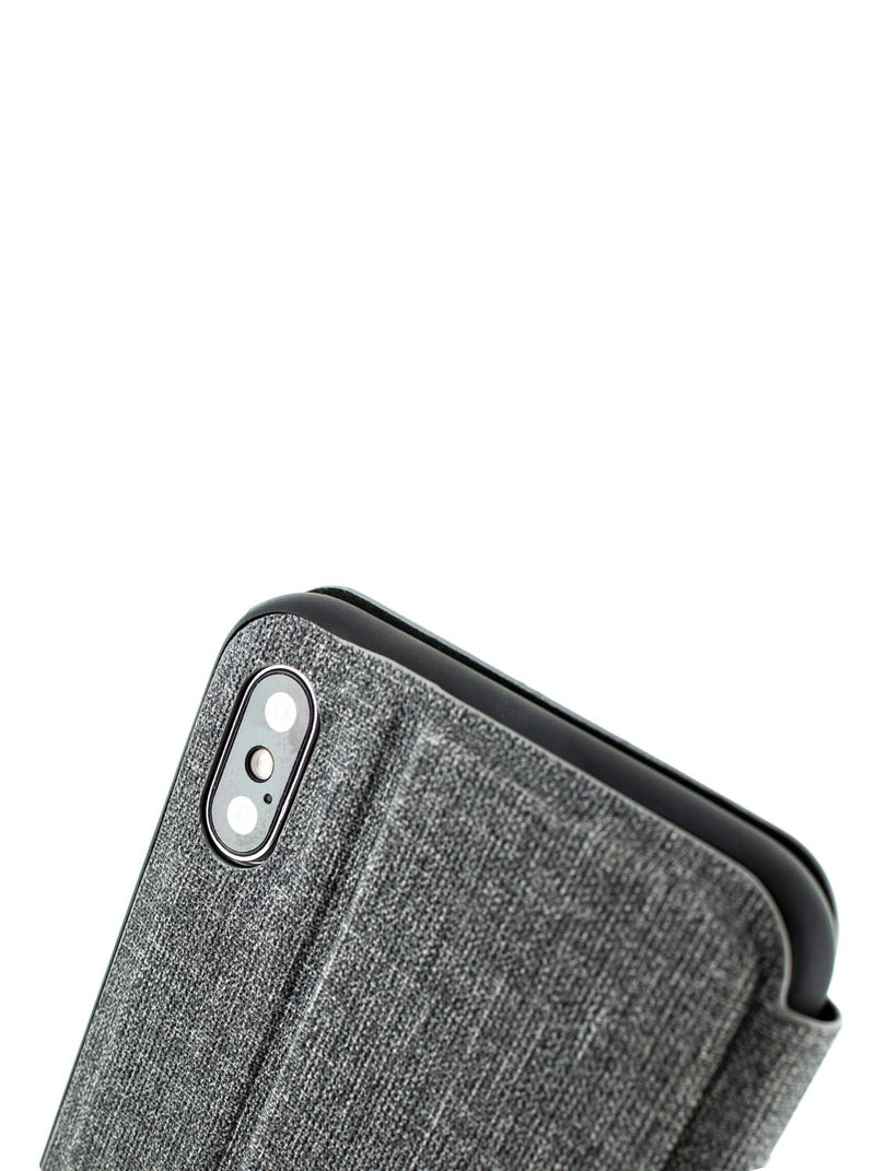 Detail image of the Proporta Apple iPhone XS Max phone case in Grey