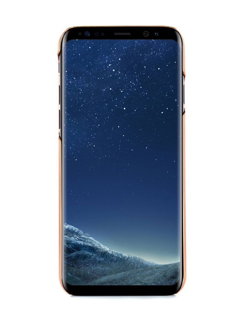 Front image of the Ted Baker Samsung Galaxy S8 phone case in Rose Gold