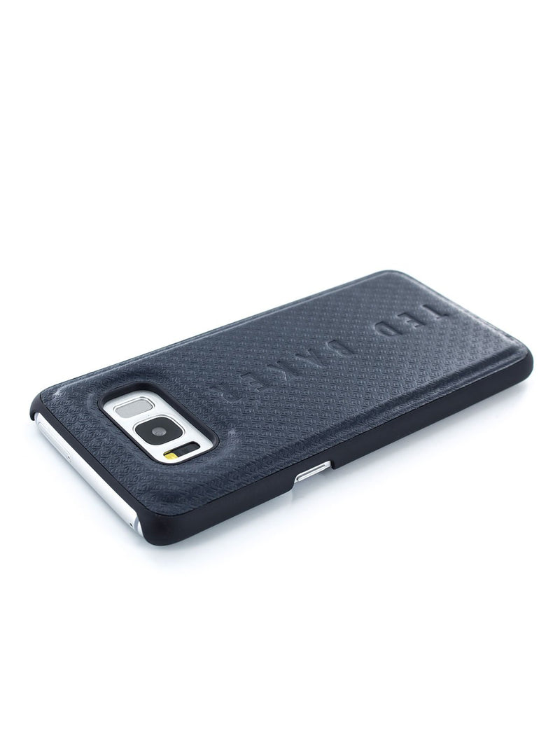 Face down image of the Ted Baker Samsung Galaxy S8 phone case in Navy Blue
