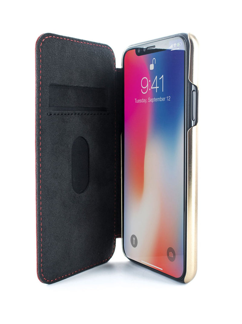 Inside image of the Greenwich Apple iPhone XS / X phone case in Scarlet Red
