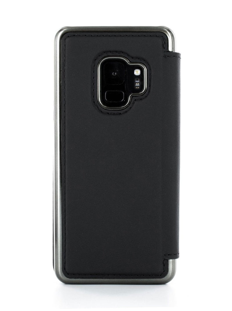 Back image of the Greenwich Samsung Galaxy S9 phone case in Beluga Black