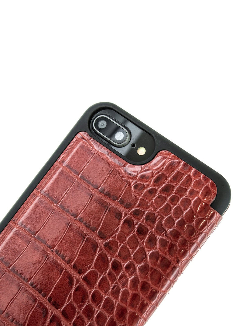 Detail image of the Karen Millen Apple iPhone 8 Plus / 7 Plus phone case in Red