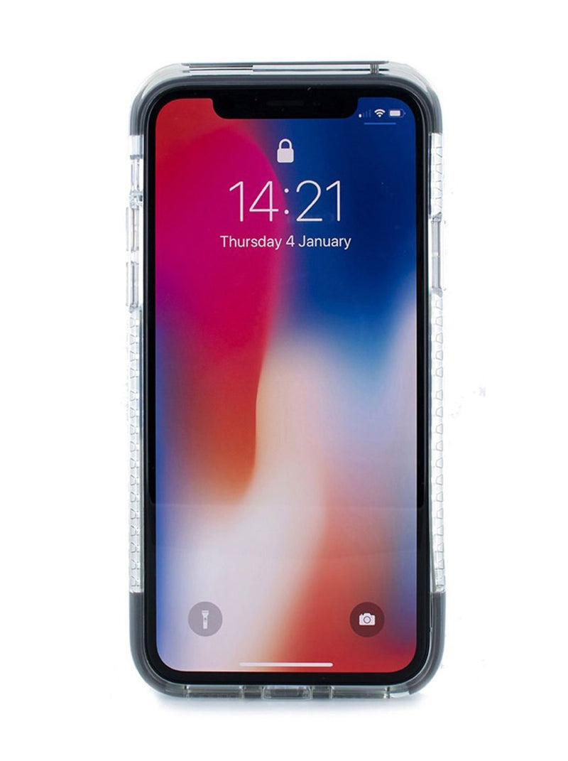 Front image of the Proporta Apple iPhone XS / X phone case in Transparent