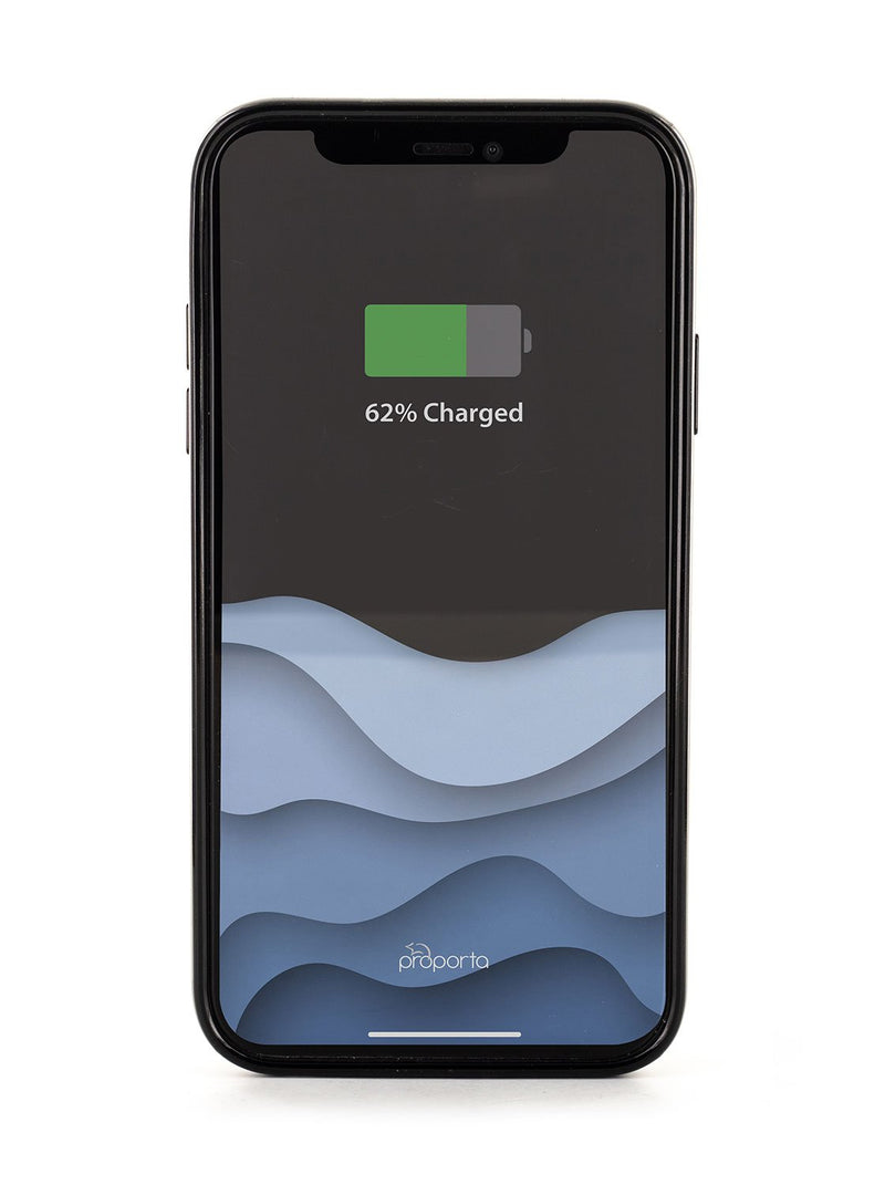 Back image of the Karen Millen Apple iPhone XS / X phone case in Black