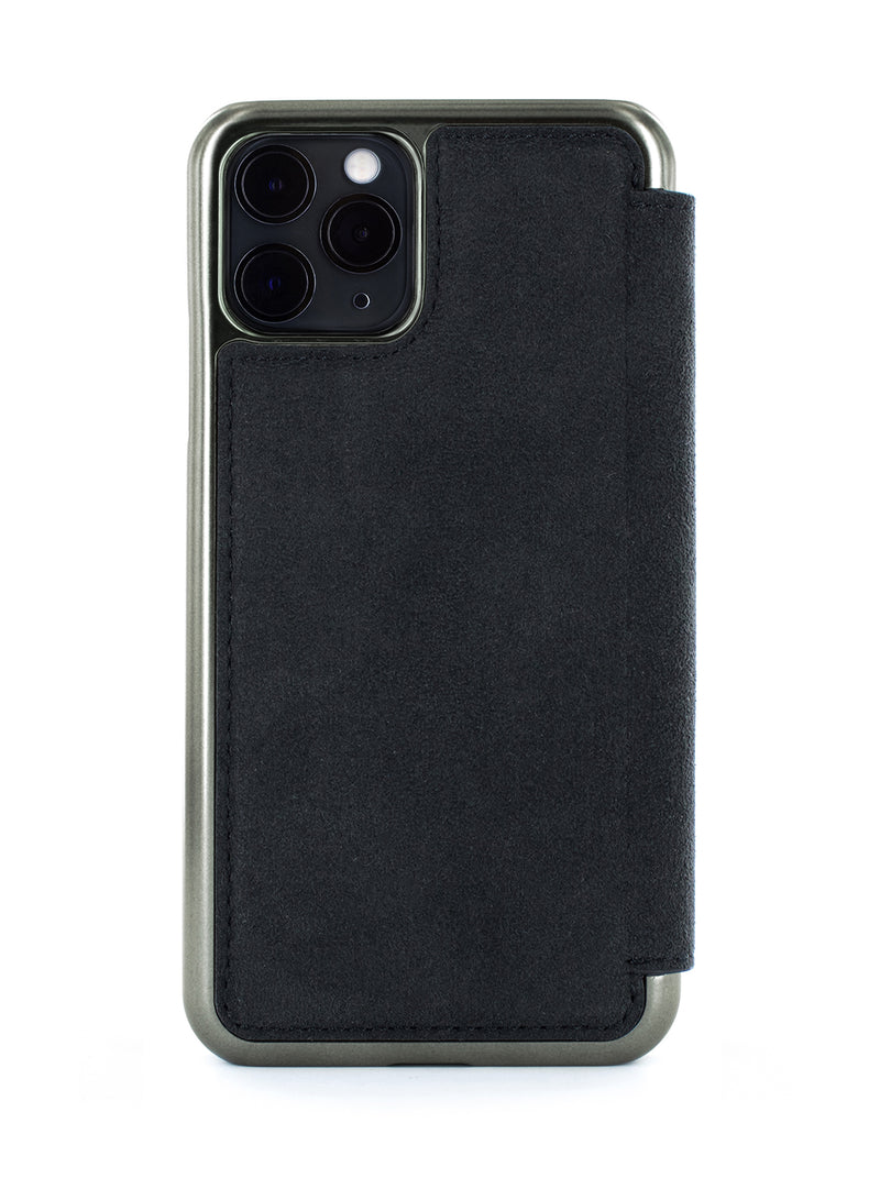 WALKER Alcantara Case for iPhone 11 Pro - BLACK/GUNMETAL