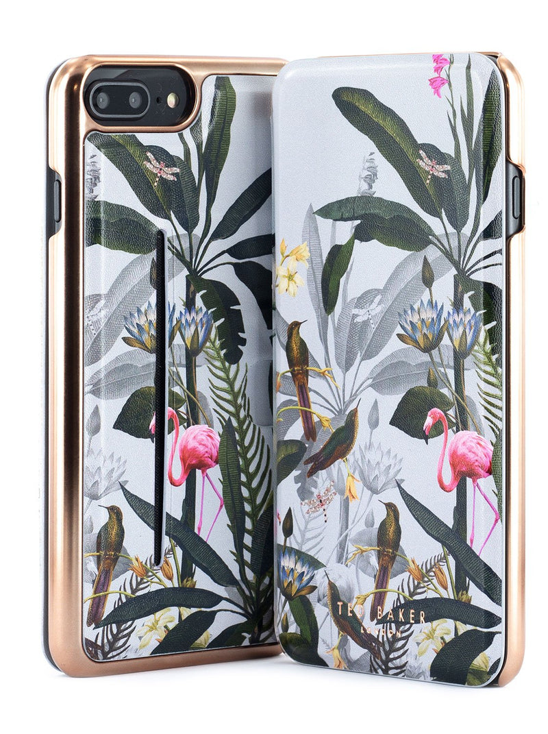 Front and back image of the Ted Baker Apple iPhone 8 Plus / 7 Plus phone case in Grey