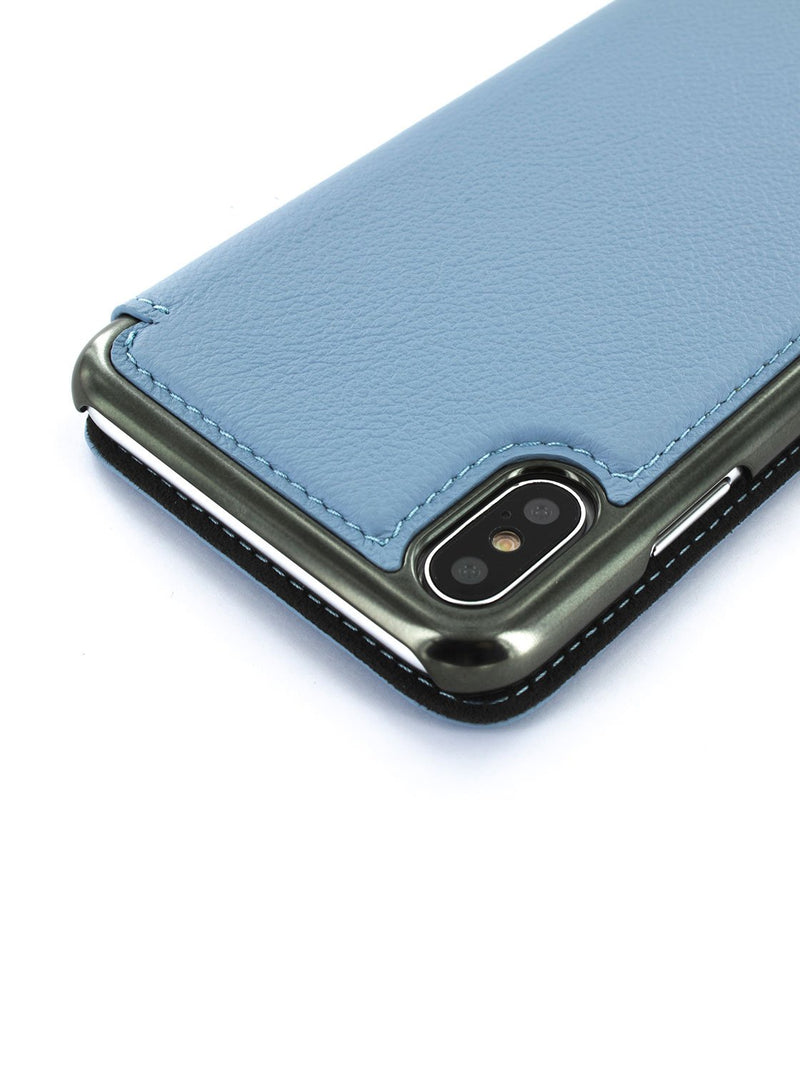 Detail image of the Greenwich Apple iPhone XS Max phone case in Beach House Blue