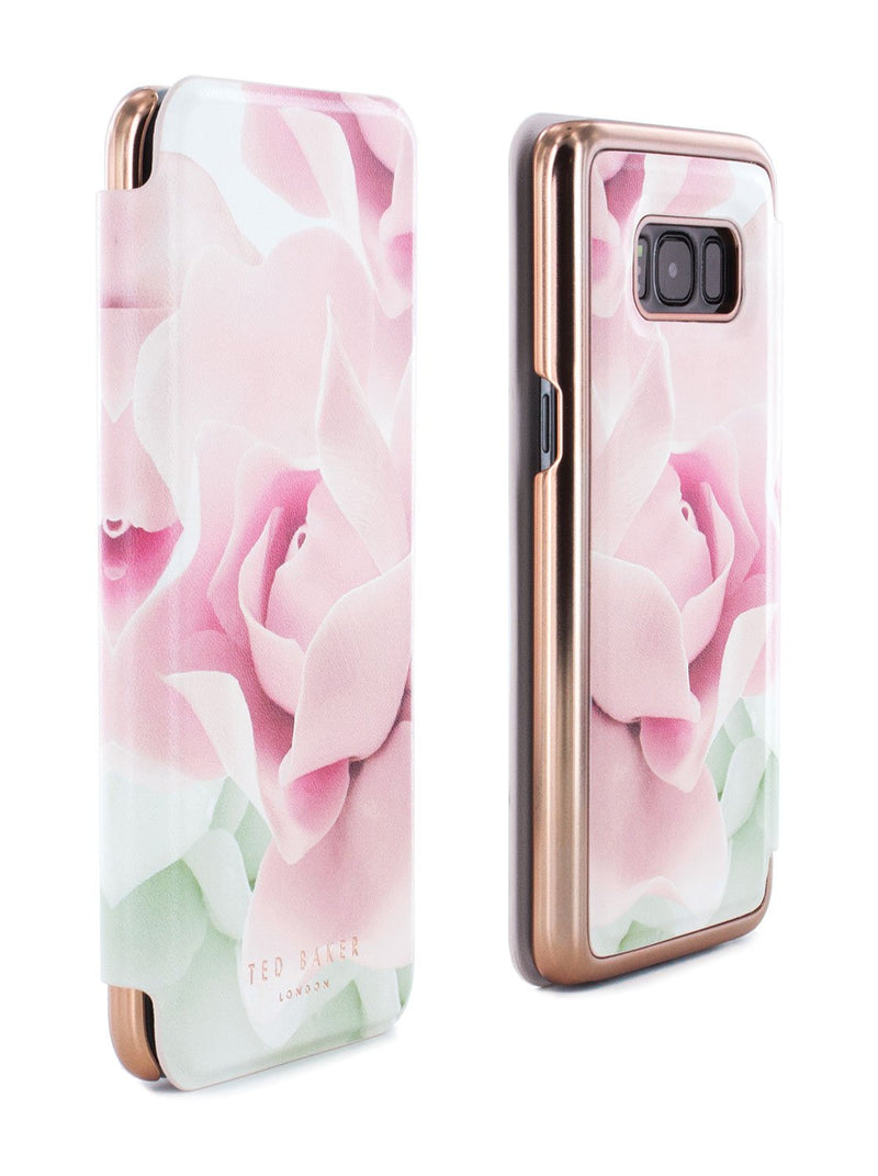 Front and back image of the Ted Baker Samsung Galaxy S8 phone case in Nude