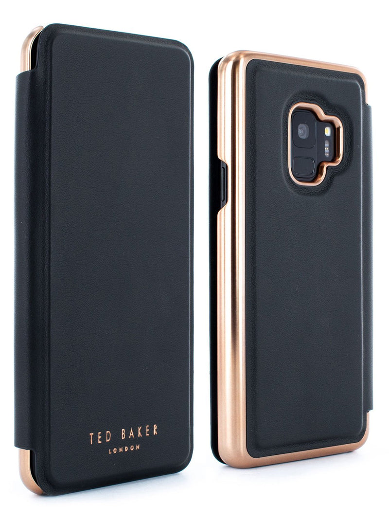 Front and back image of the Ted Baker Samsung Galaxy S9 phone case in Black
