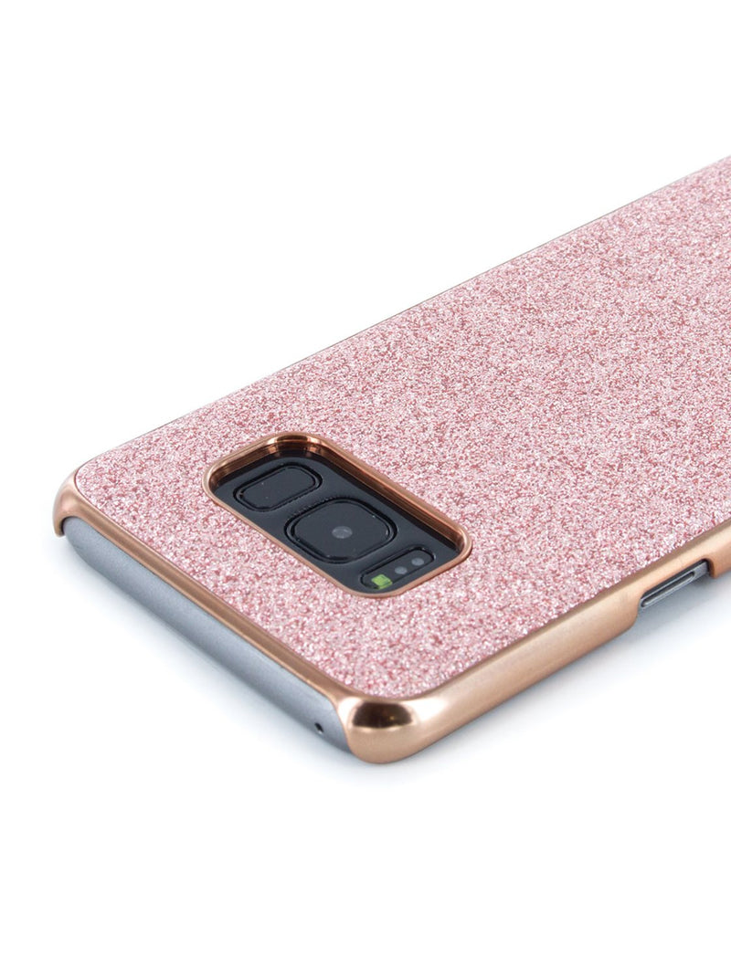 Detail image of the Ted Baker Samsung Galaxy S8 phone case in Rose Gold