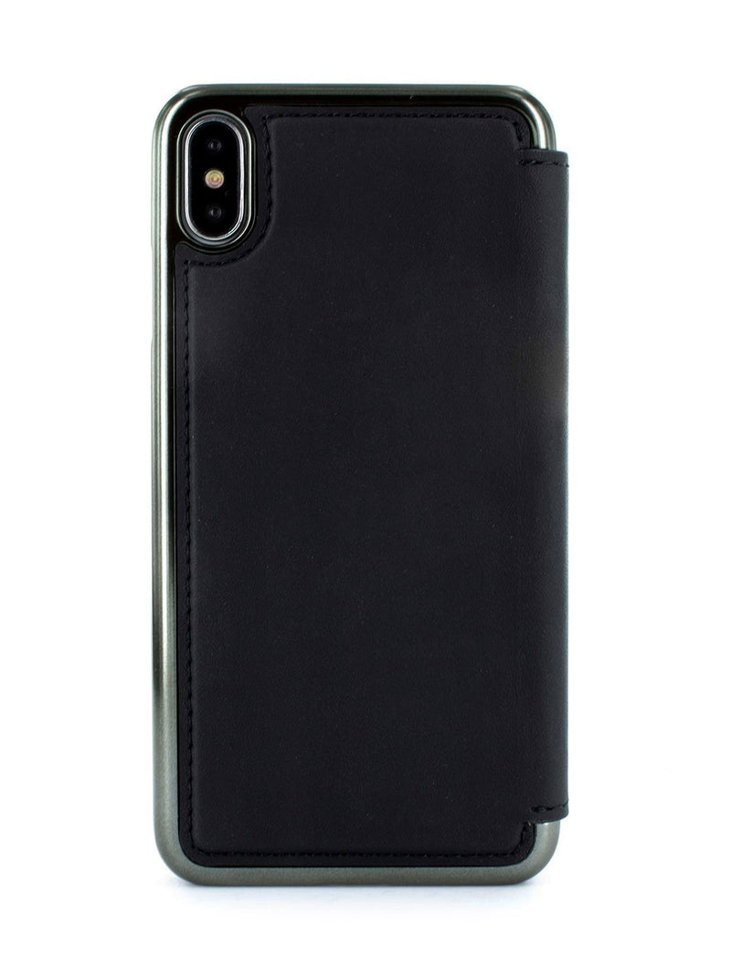 Back image of the Greenwich Apple iPhone XS Max phone case in Beluga Black