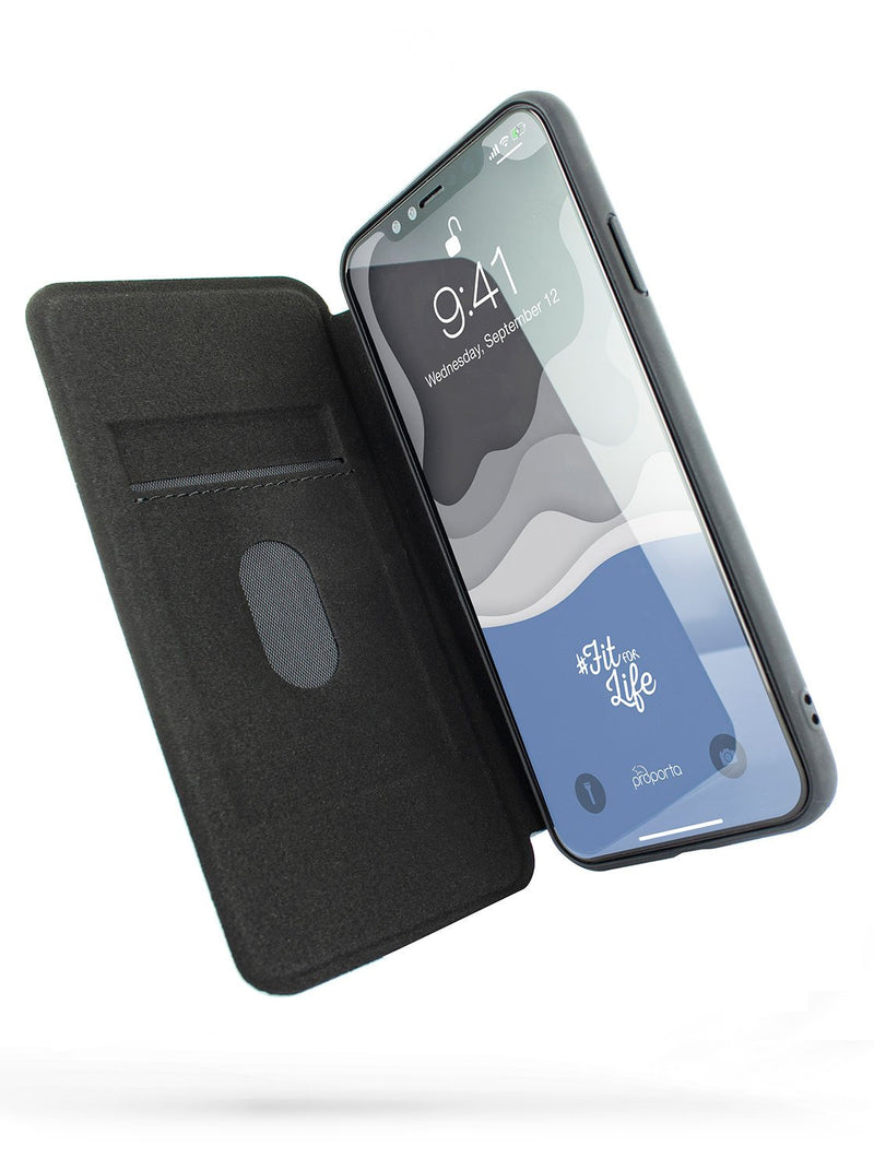 Inside image of the Proporta Apple iPhone XS Max phone case in Grey