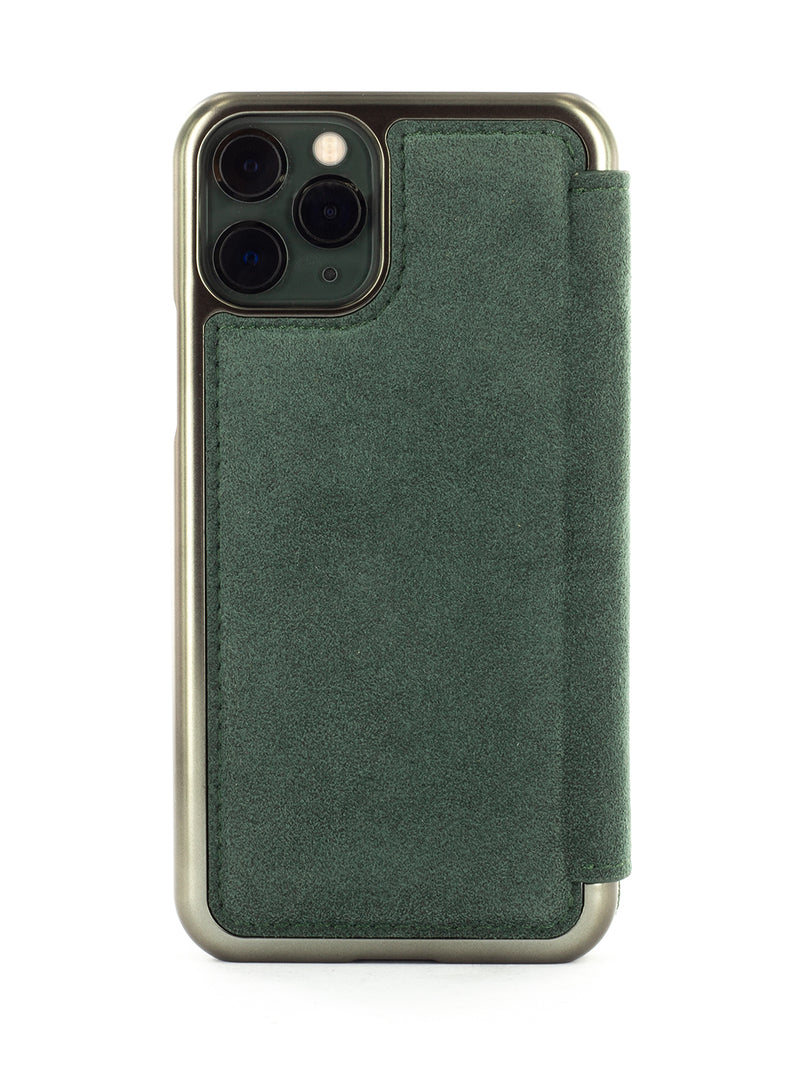FISHER Alcantara Case for iPhone 11 Pro - SAGE GREEN/GUNMETAL