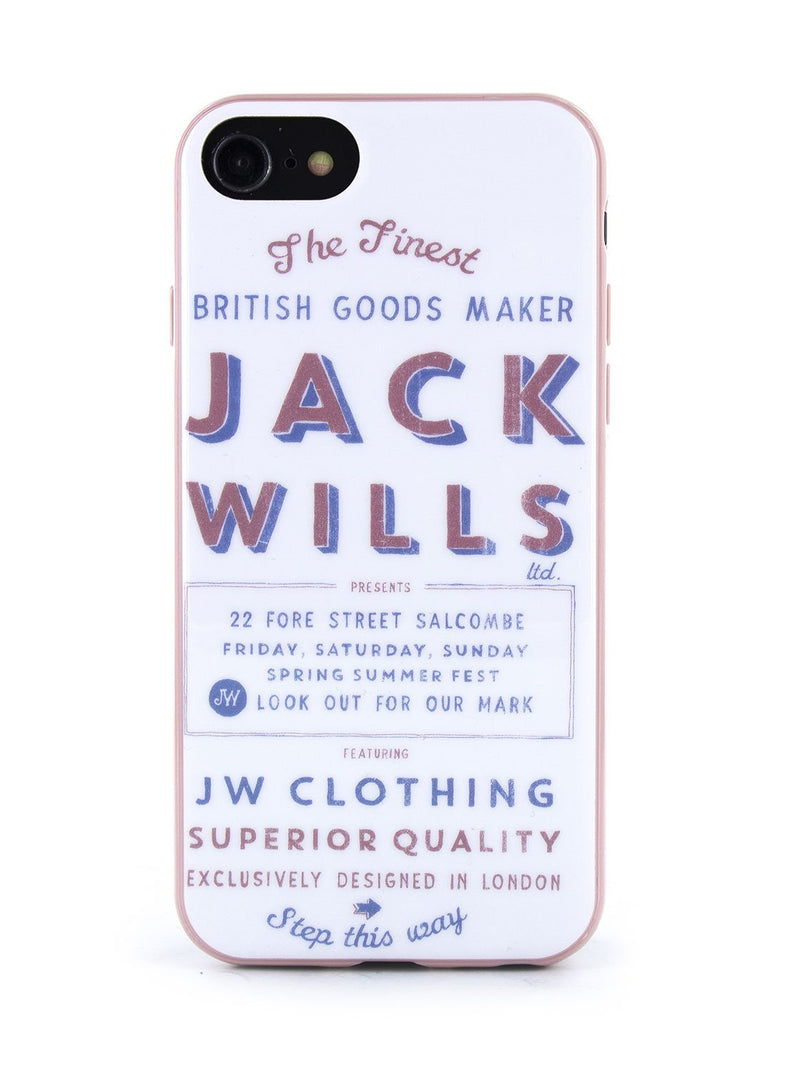 Hero image of the Jack Wills Apple iPhone 8 / 7 / 6S phone case in Graphic White